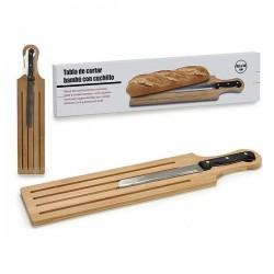 Planche à découper pain (10,5 x 2 x 49,5 cm) fonctionnelle