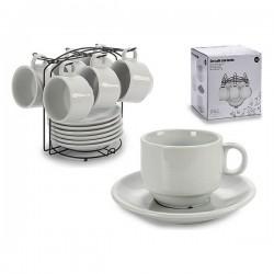 Ensemble de tasses à café Porcelaine (6 pièces) (17 x 19 x 18 cm) fonctionnel