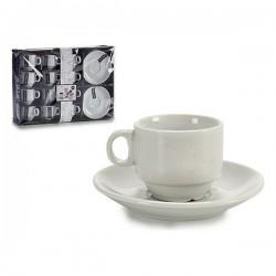 Ensemble de tasses à café Porcelaine (11,8 x 1,6 x 11,8 cm) (12 pièces) fonctionnel