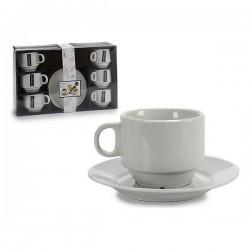 Ensemble de tasses à café Porcelaine (6 pièces) (14 x 2 x 14 cm) fonctionnel