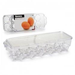 Boîte pour oeufs Plastique Transparent (11,5 x 7,5 x 32,5 cm) fonctionnelle