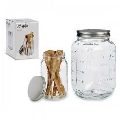 Pot en verre Vivalto avec couvercle 5 L fonctionnel