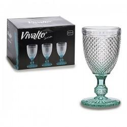 Verre Vivalto Turquoise (8 x 15 x 8 cm) (0.256 l) fonctionnel