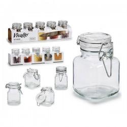 Pot en verre Vivalto (5 pièces) (5 x 8 x 6,5 cm) fonctionnel
