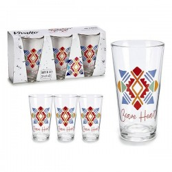 Set de Verres Vivalto verre (3 pièces) 31 cl fonctionnel