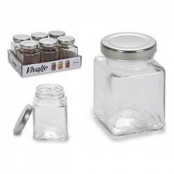 Pot en verre Vivalto Avec couvercle 100 ml fonctionnnel