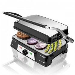 Gril contact Cecotec Rock'n grill 1500 Take&Clean 1500W Noir Argenté fonctionnel