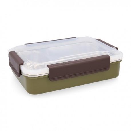 Boîte à lunch Quid GO XTREM Acier inoxydable (6 x 18,5 x 7 cm) fonctionnelle
