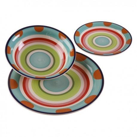 Service de Vaisselle Alisia Grès (18 pièces) fonctionnel