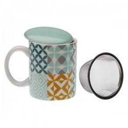 Tasse avec filtre pour infusions Aqua Karlsen Porcelaine élégante