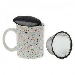 Tasse avec filtre pour infusions Vivid Terrazzo Porcelaine élégante