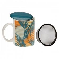 Tasse avec filtre pour infusions Saona Porcelaine élégante
