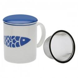 Tasse avec filtre pour infusions Navy Porcelaine élégante