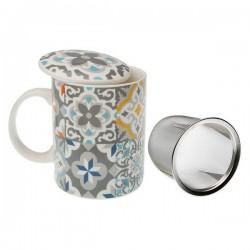 Tasse avec filtre pour infusions Alfama Porcelaine élégante