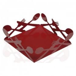 Porte-serviettes Métal Rouge fonctionnel