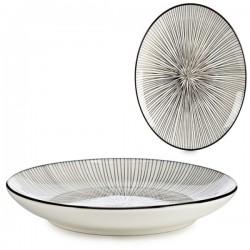 Assiette plate Noir (24 x 2,8 x 24 cm) fonctionnelle
