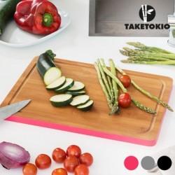 Planche de cuisine rectangulaire en bambou taketokio pour couper tous vos aliments