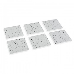 Dessous de verres Gray Terrazzo Verre (6 pièces) (0,6 x 10 x 10 cm) élégant