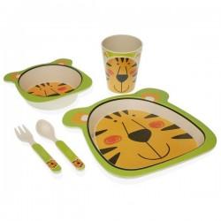 Service de Vaisselle Fibre de bambou Enfant Tigre (5 pièces) élégant