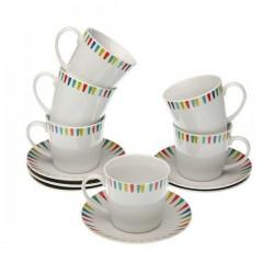 Ensemble de tasses à café Porcelaine (6 pièces) élégante