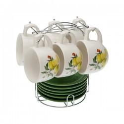 Ensemble de tasses à café Porcelaine (220 ml) (6 pièces) élégant