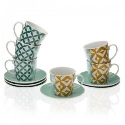 Ensemble de tasses à café Porcelaine (6 pièces) élégant