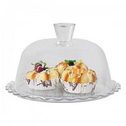 Plat à tarte verre (26,4 x 11,8 x 26,4 cm) fonctionnel