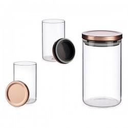 Bocal verre (10 x 18 x 10 cm) fonctionnel