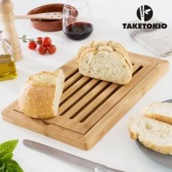 planche en bambou à découper le pain taketokio élégant