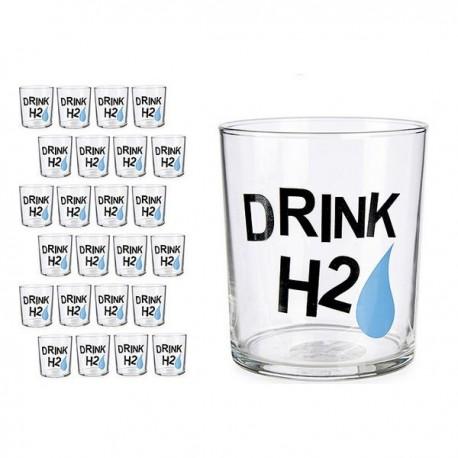 Verre Drink H2 Transparent verre (380 ml) fonctionnel