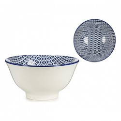 Bol Porcelaine Bleu / Blanc (16 x 7,5 x 16 cm) fonctionnel