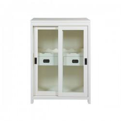 Range Bouteilles Blanc Fer bois mindi (70 x 45 x 100 cm)