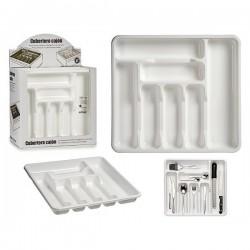 Range couvert Blanc Plastique (39 x 4,5 x 42,5 cm) fonctionnel