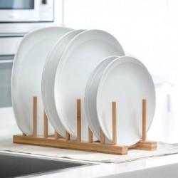 égouttoir à vaisselle en bois élégant et pratique