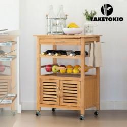 desserte de cuisine en bambou taketokio élégante et pratique