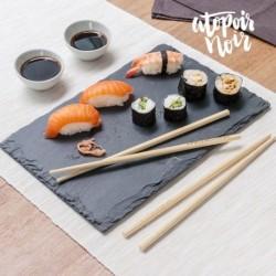 set pour sushis atopoir noir élégant sur votre table