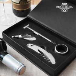 set d'accessoires pour vin bravissima kitchen ouverture coffret