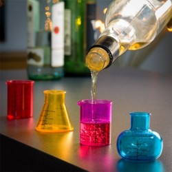 verres à shot chemistry par 4