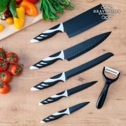 Couteaux top chef noir C01024 élégants et pratiques