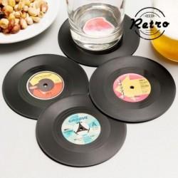 Dessous de verre rétro disques vinnyle élégants et pratiques
