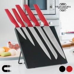 Couteaux avec support magnétique Bravissima Kitchen (6 pièces) pratiques et élégants