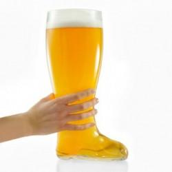 Verre à bière botte XXL rempli