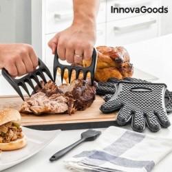griffes pour viande avec gants et pinceau innovagoods