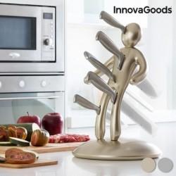 Service de Couteaux avec Porte-Couteaux Voodoo Premium InnovaGoods (6 pièces) élégant dans votre cuisine