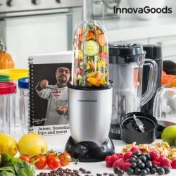 blender mixeur en verre one touch innovagoods gris élégant et pratique