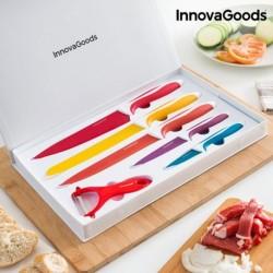 Ensemble de couteaux en céramique et éplucheur InnovaGoods 6 pièces élégant