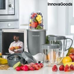 mixeur en verre avec livre de recette nutri one touch innovagoods gris les ustensiles