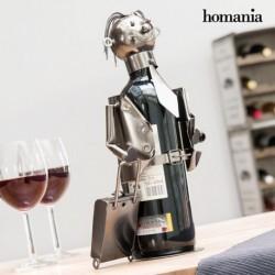porte bouteilles en métal businessman by homania élégant sur une table