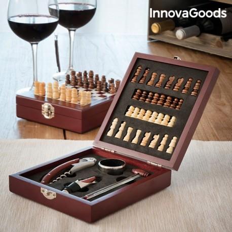 Ensemble d'accessoires à vin et échecs InnovaGoods 37 Pièces pratique