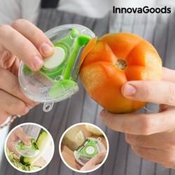 éplucheur coupeur rotatif 4 en 1 innovagoods pour couper les tomates